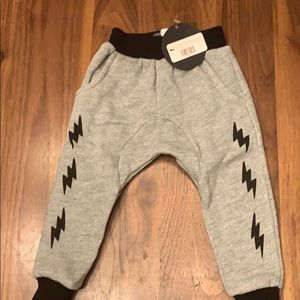 Tiny Whales Lightning Bolt Joggers 6-12 months